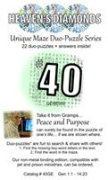 Unique Maze Duo-Puzzle Book  #40